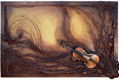 Atelier.Rynarec / Kožený umělecký obraz - Harmonie