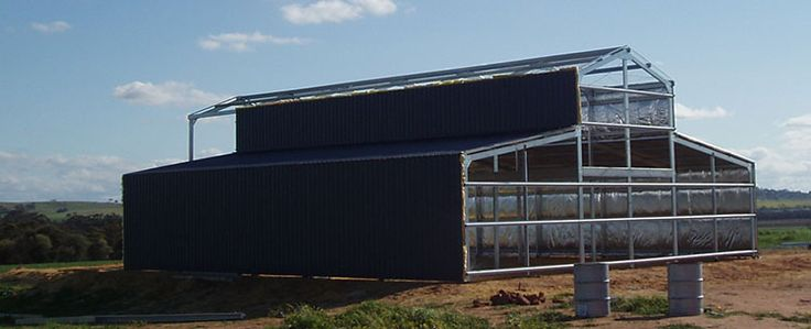 Barn construction is about to finish #Barn #BarnKits #Perth #WA  http://www.garagewholesalers.com.au/products/barnkits.aspx
