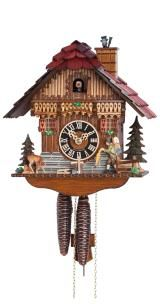 Relógio de Cuco<br>Casa da Floresta Negra com vendedor de relógio que se move