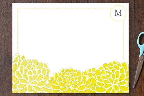 sunny botanical Personalized Stationery by Casey Hooper at minted.com