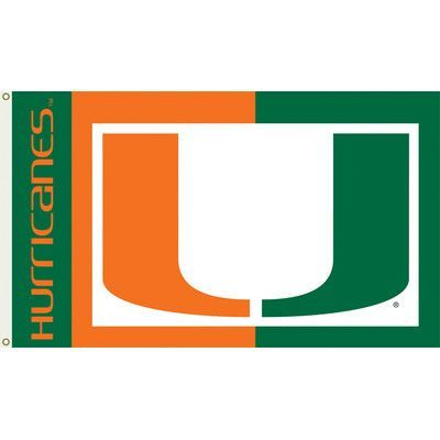 BSI Products Miami Hurricanes Flag with Grommets