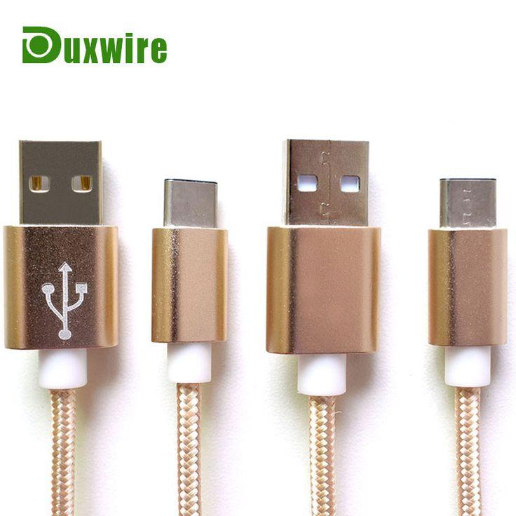 2016 Aluminum Nylon Braided USB 20 Type C Charging Cable For Nexus