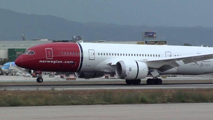 Norwegian Boeing 787-800(Dreamliner) LN-LND Landing Malaga AGP