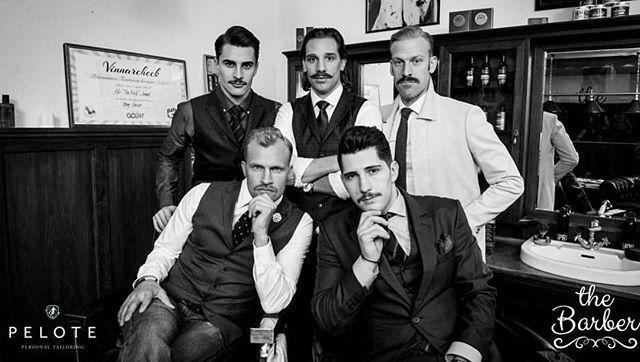 """bypelote - """"  The guys from hockey club Malmö Redhawks raised over 100,000 sek for Movember !! 🏆 Hair & moustaches by The Barber, cloths and styling by PELOTE  """""""