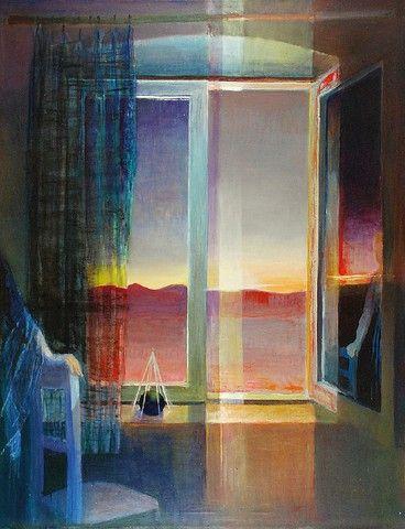 Stanisław TEISSEYRE (1905-1988)  Zapowiedź dnia nad Sierra de Solorio olej, akryl, płótno; 147 x 114 cm;