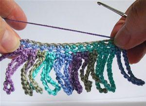 Crochet Spot » Blog Archive » How To Crochet: Chain Loop Fringe - Crochet Patterns, Tutorials and News