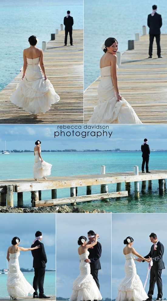 This is so sweet for a wedding pic!