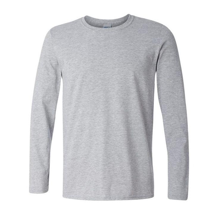 Plus size XS- XXL Classic Men T shirt Long Sleeve O neck Mens T-shirt Cotton Tees Tops Men Brand tshirt Sweatshirts