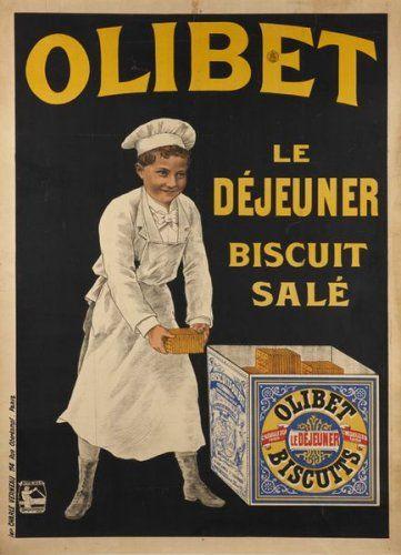 Olibet - Le déjeuner, biscuit salé - 1920 -