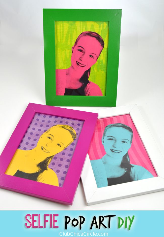Easy Modern Pop Art Selfie Craft Idea for Kids