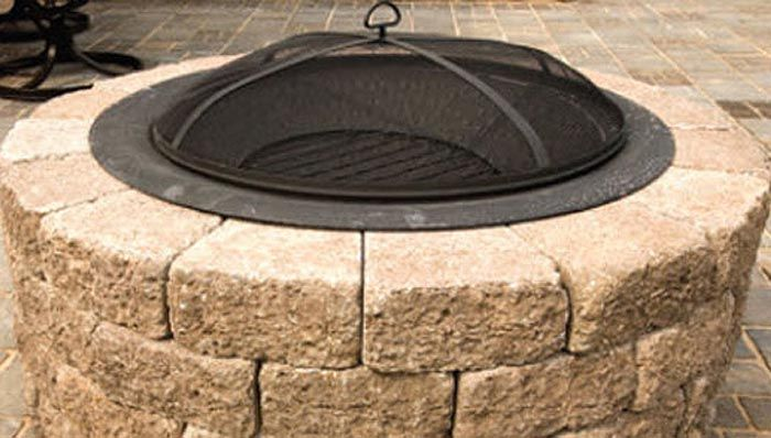 Build a Patio Block Fire Pit - Lowe's, do it yourself fire pit with patio blocks