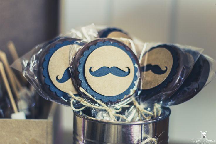 Tag para pirulito de Chocolate com Bigode.  Lembrança Dia do Pais - Fahter's Day Favor - Chocolate Lolipope Mustache