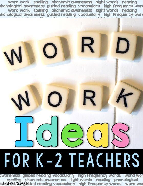 Word work ideas for K-2 teachers