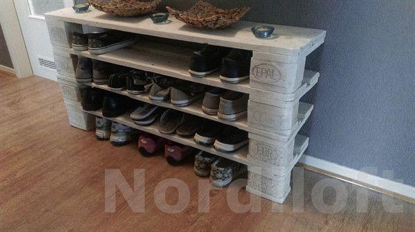 Schuhschränke - Palettenmöbel-Schuhregal No.1 - ein Designerstück von Nordiloft bei DaWanda
