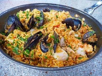 Paella and Recipe on Pinterest