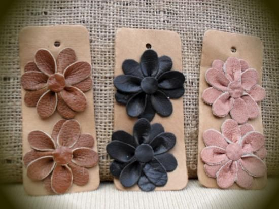 adorno para calzado forma de flor 10 pétalos apliques para zapatos cuero  corte perforado cosido  ca1de17eb2e6