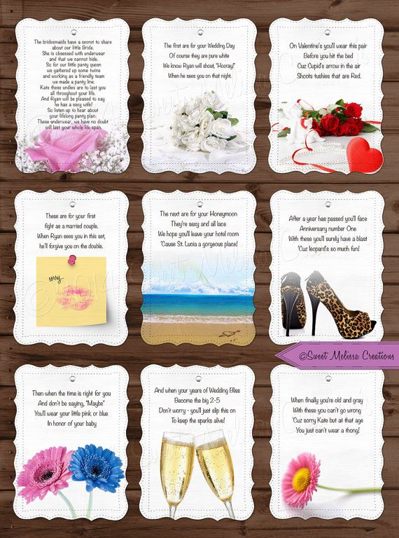 lifelong panty line poem bridal shower bachelorette party lingerie clothesline panty poem cards by sweet melissa creations in 2018 baby bridal