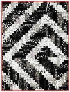 Oklahoma Twister Quilt - I like the black and white, but just imagine it in green and yellow, or blue and gray, or...