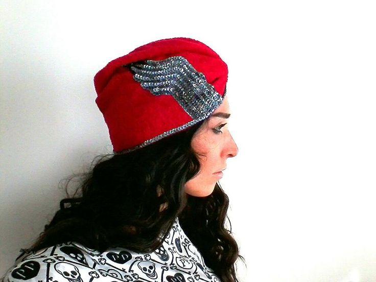 Kırmızı Havlu Saç BantıTürban Bone Zet.com'da 79.90 TL