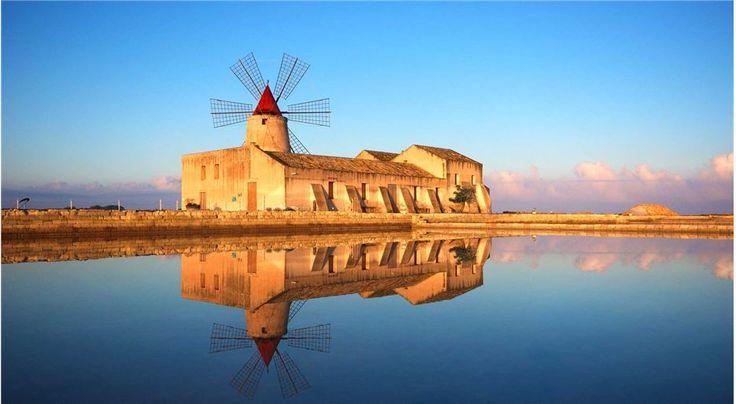 Mill in the Saline Area near Trapani