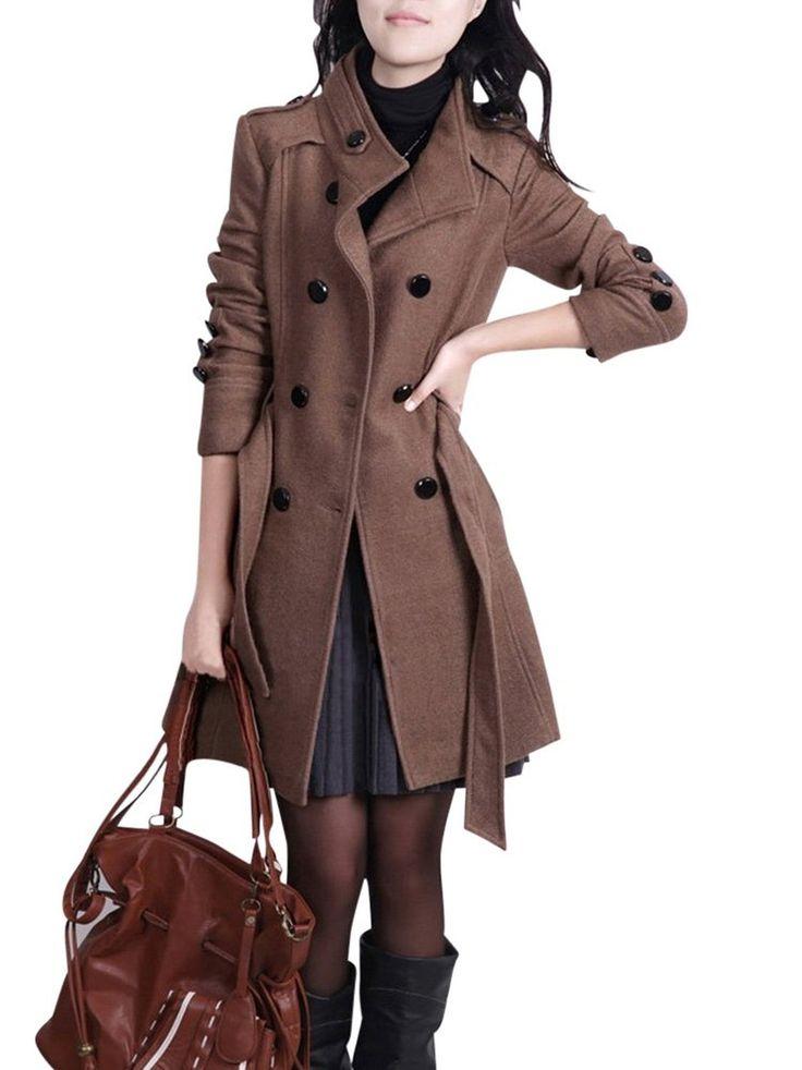 molly manteau femme long trench coat avec ceinture amazon. Black Bedroom Furniture Sets. Home Design Ideas