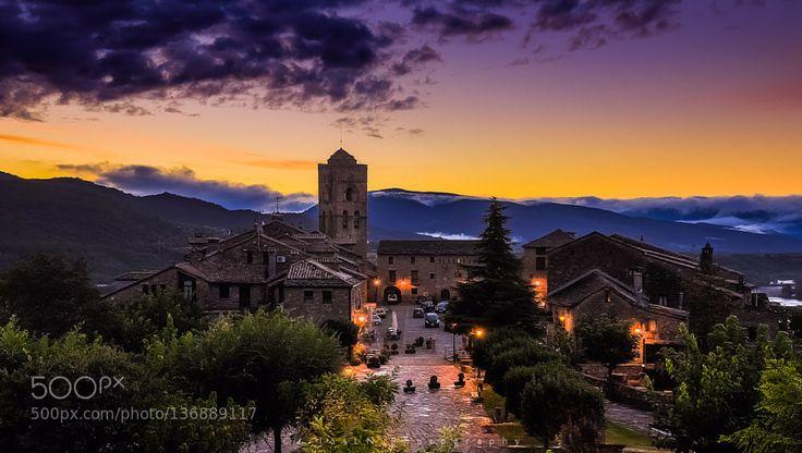 Popular on 500px : Aínsa sunrise by CarlosLN