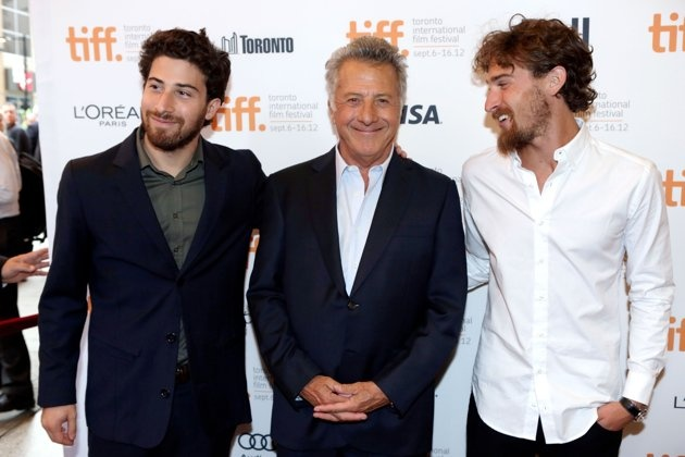 """Also keeping TIFF a family affair yesterday was Dustin Hoffman, who   brought his sons Jake and Max and wife Lisa Gottsegen to the opening of   his directorial debut """"Quartet."""" Starring Maggie Smith, Tom Courtenay,   Billy Connolly, Pauline Collins, and Michael Gambon, """"Quartet"""" follows   four aging opera singers whose past squabbles and grievances follow them   into their retirement home. The Hoffman clan was there to support the   75-year-old acting ..."""