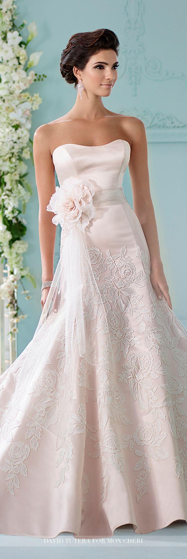 17 best images about pink wedding dresses on pinterest for Removable skirt wedding dress davids bridal
