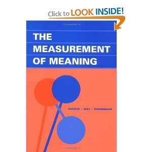 The Measurement Of Meaning Osgood Suci Tannenbaum Find This Pin And More On Interior Design Reading List