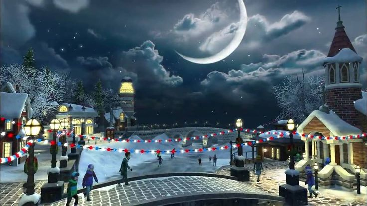 Snow Village 3D Live Wallpaper and Screensaver