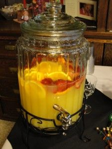 Recipe For  Mimosa Punch would be great in my big mason jar drink dispenser or maybe to use the the Margaritaville machine?