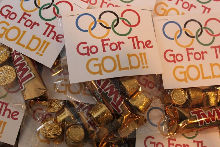 "Go for the gold! Olympics are a 'Game"", right? Fits our Game Theme!!??"