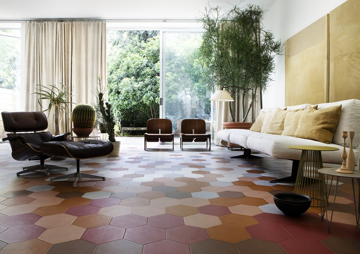 large hexagonal floors...