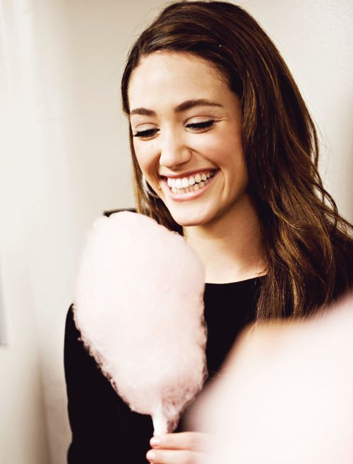 Emmy Rossum and cotton candy