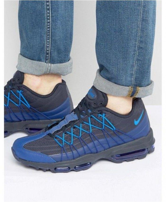 7bae167a537 Nike Air Max 95 Ultra Se Black Blue Shoes