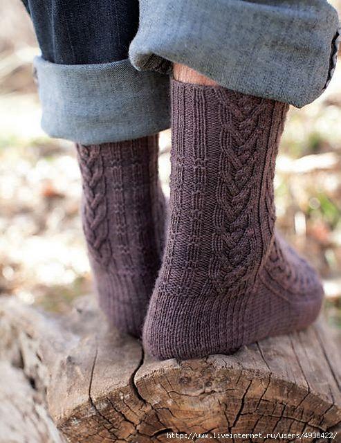 Мужские носки - Woodcutter's Socks by Rachel Coopey.