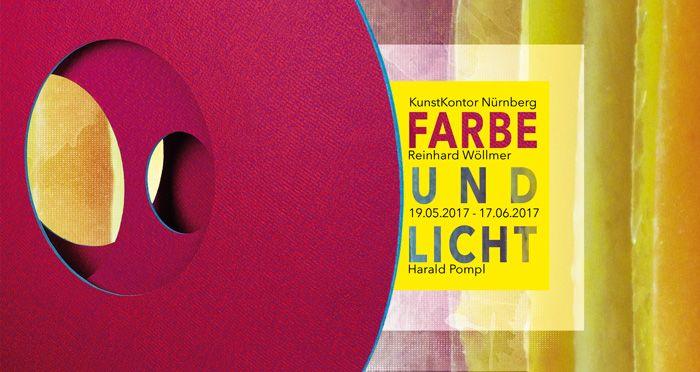 "Grafik & Print Design - Flyer ""Farbe und Licht"" Galerie KunstKontor Nürnberg"