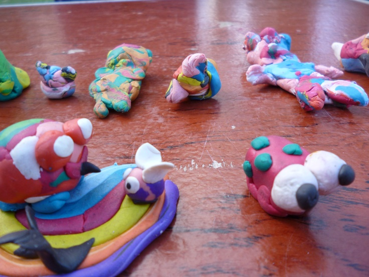 Frogs made from plasticine... so much variation.