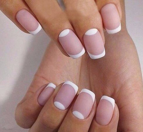 Beautiful nails, Bridal nails, Business nails, Classic french manicure, Classic nails ideas, Delicate nails, Ideas of matte nails, Moon on the nails