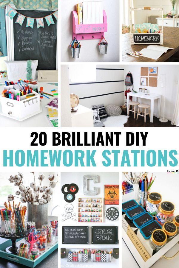 20 Brilliant Diy Homework Station Ideas Homework Station Diy Homework Station Room Diy