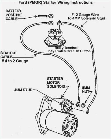 Ford Motor Starter Wiring Diagram
