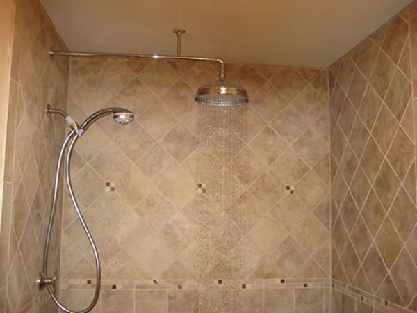 Handheld Shower And Wall Mounted Shower Head Rain Shower