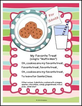 """FREE LANGUAGE ARTS LESSON - """"December Santa Song and No-Prep Printable"""" - Go to The Best of Teacher Entrepreneurs for this and hundreds of free lessons. Pre-Kindergarten - 2nd Grade  #FreeLesson  #LanguageArts  #Christmas  http://www.thebestofteacherentrepreneurs.net/2015/11/free-language-arts-lesson-december.html"""