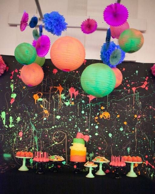 festa neon simples de debutante