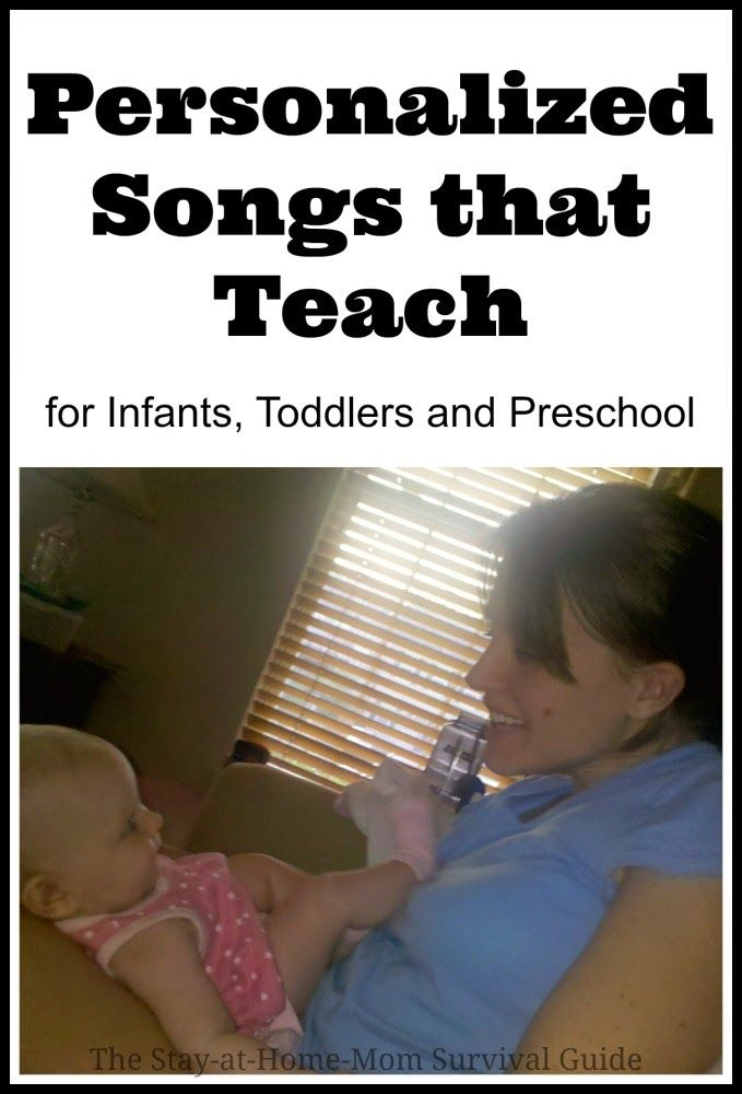 These two songs helped my children learn to spell their names and count in order by age 2! They are simple and easy to personalize to get even babies learning. These songs are great for toddlers and preschoolers too.