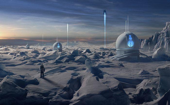 Если люди окажутся в космосе, то им придется селиться на других планетах вдали от Земли. Эти поселения будут более надежными из-за доступа к полезным ископаемым и источникам энергии. Жизнь на таких планетах, как Марс и Венера, возможна только под землей из-за суровых условий, экстремальных температур, давления. Не совсем практичная идея – селиться на газовых гигантах. В таких условиях возможно строительство только воздушных городов в верхних слоях планет.