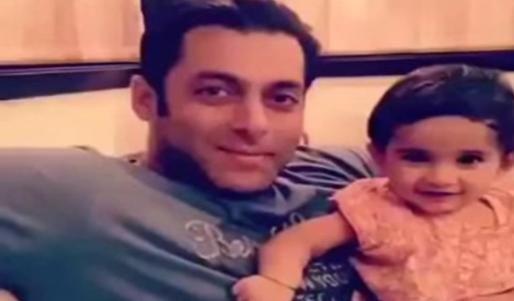 Salman Bhai with niece