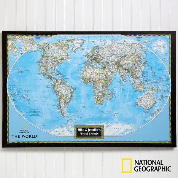 18 best world map images on pinterest world maps canvas prints national geographic classic world personalized canvas map gumiabroncs