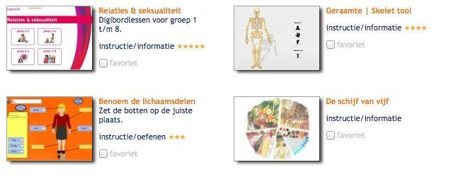 Tools 'Menselijk lichaam'