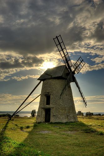 Fårö windmill by dans le grand bleu, Gotland in Sweden. via Flickr
